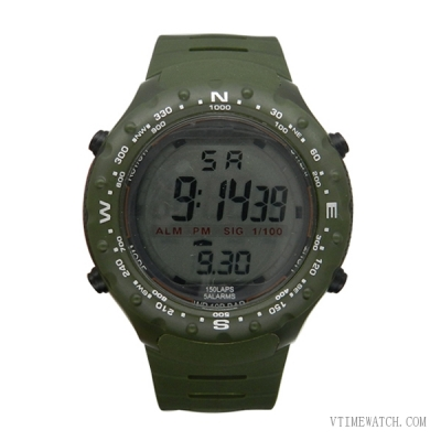 VT-DW1429 Military Round Screen Plastic Digital Multi-functional Watch