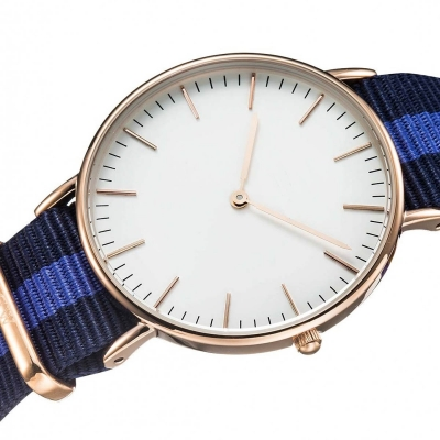 VT-NW1416 Fashion NATO Style Nylon Band Japanese Slim Quartz Watch Various Colors Available