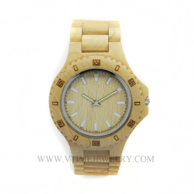 VT-WD1503M Fashion Lifestyle Maple Wood Watch