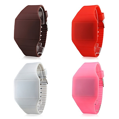 VT-L1322 Hot Selling Square Red Light LED Touch Watch