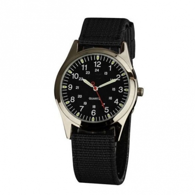 VT-NW0719 Military 3ATM Nylon Band Japanese Movement Alloy Watch