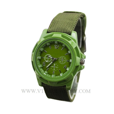 VT-NW1401 Military 3ATM Nylon Band Japanese Movement Alloy Watch